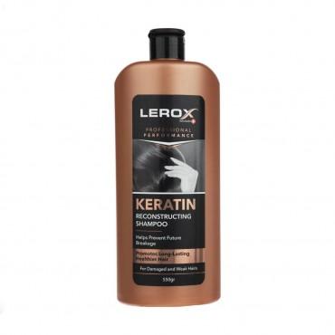شامپو مو کراتینه مناسب موهای شکننده و آسیب دیده لروکس 550 گرم