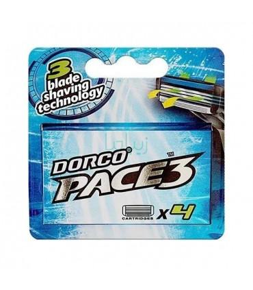تیغ یدک 3 لبه مدل pace 3 دورکو بسته 4 عددی