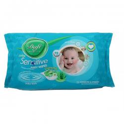 دستمال مرطوب کودک برای پوست های حساس 70 عددی دافی
