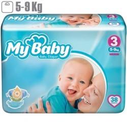 پوشک بچه مای بیبی my baby سایز 3 بسته 38 عددی