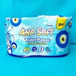 دستمال کاغذی توالت دوقلو آنا