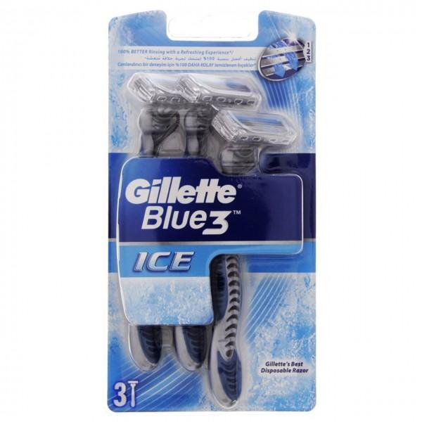 خود تراش مدل Blue3 Ice ژیلت بسته 3 عددی