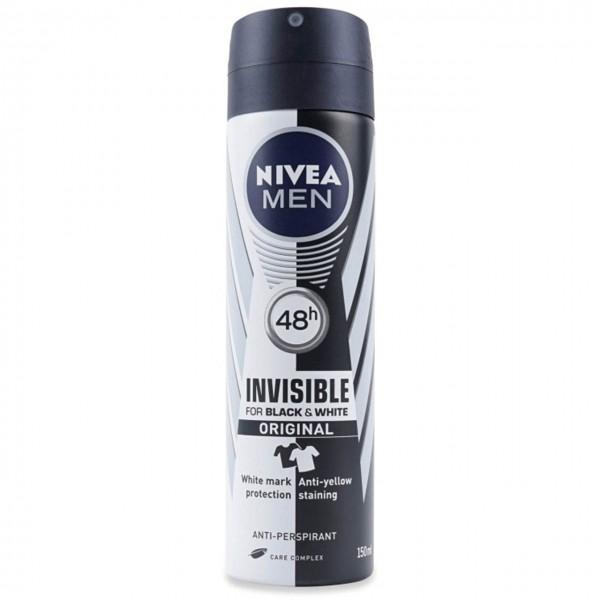 اسپری مردانه ضد مدل Original Invisible For Black & White نیوا 150 میل