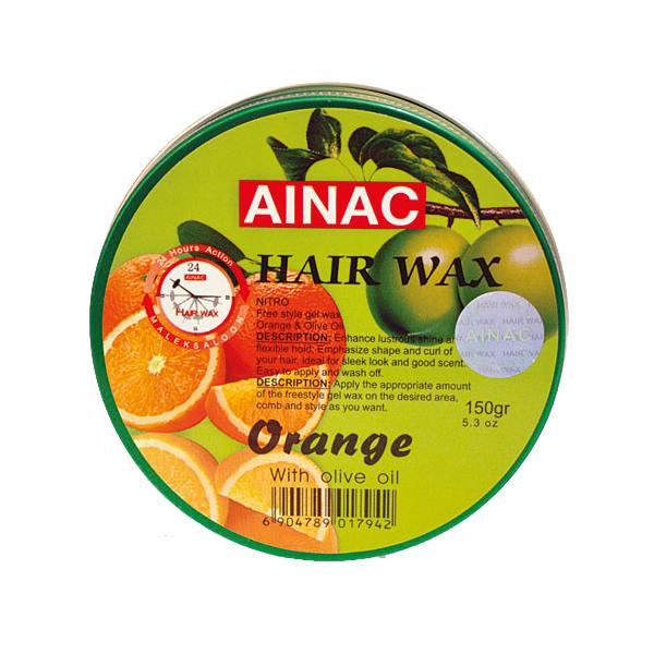 واکس موی Ainac با عطر پرتغال 150 گرمی