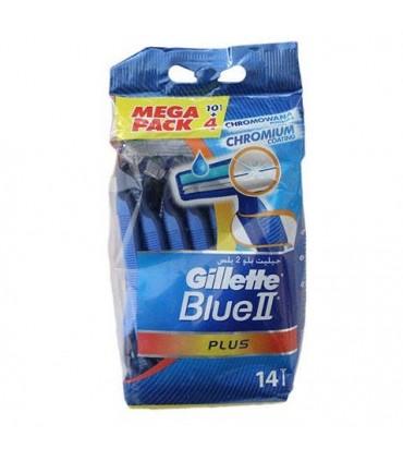 خودتراش دو لبه Blue 2 Plus ژیلت بسته 14 عددی
