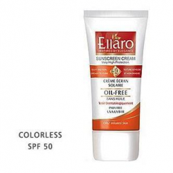کرم ضد آفتاب SPF50 برای انواع پوست ها بی رنگ Color Less الارو 50 میل