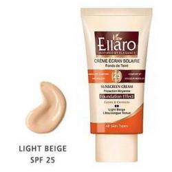 کرم ضد آفتاب SPF25 کرم پودری برای انواع پوست ها دو نقطه - بژ روشن Light Beige الارو 40 میل