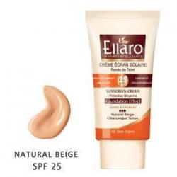 کرم ضد آفتاب SPF25 کرم پودری برای انواع پوست ها سه نقطه - بژ طبیعی Natural Beige الارو 40 میل