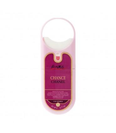 عطر جیبی زنانه طرح حلقه دار مدل Chance Chanel آنیکا 20 گرم