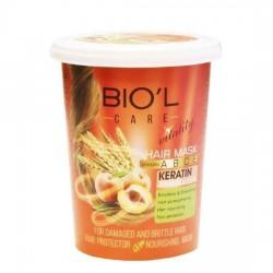 ماسک مو هلو و جوانه گندم تغذیه کننده و محافظت کننده موهای خشک و وز بیول 500 میل
