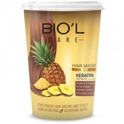 ماسک مو بیول عصاره آناناس تغذیه کننده موهای آسیب دیده و پوست سر ملتهب 500 میل