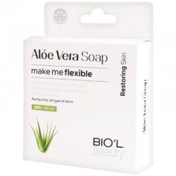 صابون کرمی پاک کننده صورت کاهش دهنده آکنه و التهاب پوستی حاوی عصاره آلوئه ورا بیول 100 گرم