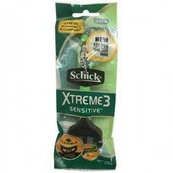 خودتراش مردانه 3 لبه مدل Xtreme Sensitive 3 سبز شیک بسته 1 عددی