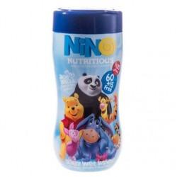 دستمال مرطوب کودک فاقد پارابن و صابون مدل کارتونی نینو 60+15 عددی