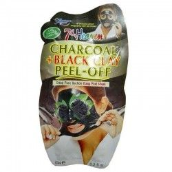 ماسک صورت لایه ای ذغال و خاک رس سیاه مدل 7th Heaven مونته ژنه 10 میل