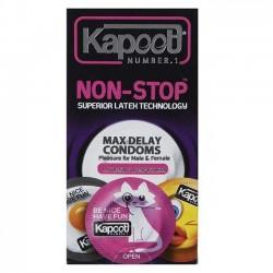 کاندوم تاخیری مدل Non Stop کاپوت بسته 12 عددی