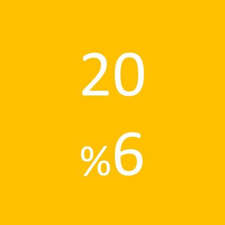 20 ( 6% )